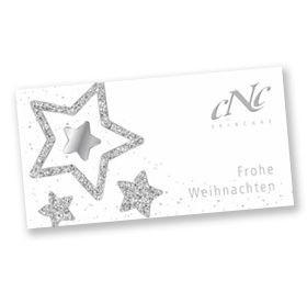 CNC Geschenkgutschein in weihnachtlichem Design