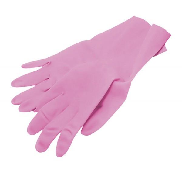 Handschuhe Nitril pink, puderfrei, Größe M, 100 Stk.