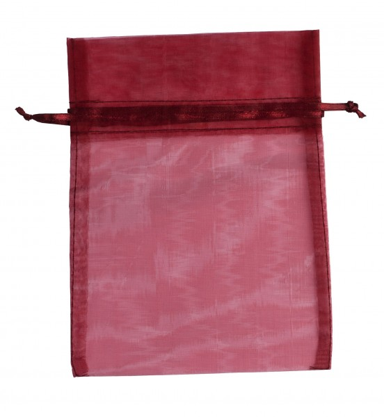 Organzabeutel bordeaux, 14x18 cm, leer