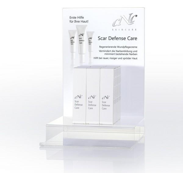 Scar Defense Care Display Komplettangebot, 9 x 30 ml + 15 Setkarten