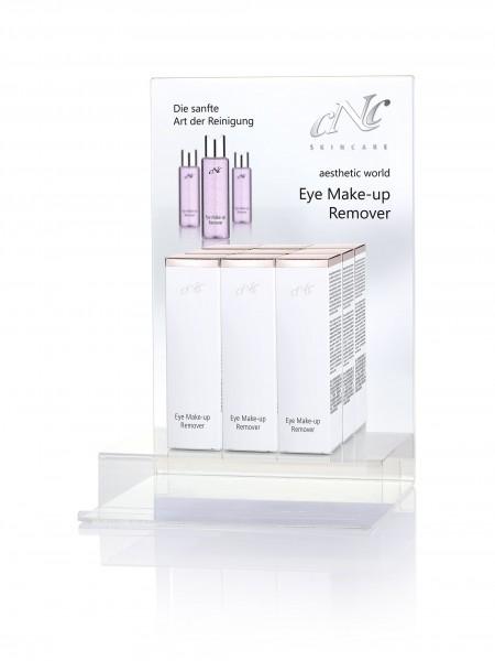 aesthetic world Eye Make-up Remover Display-Komplettangebot, 9 x 100 ml + Rückenschild