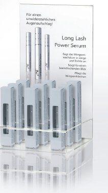 Long Lash Power Serum Display, 9 x 6 ml+ Aufsteller, 20 Setkarten