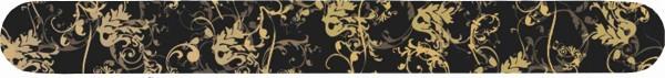 """Profi-Feile mit Motivdruck """"schwarz mit goldenen Ornamenten"""", Körnung 240 beidseitig"""