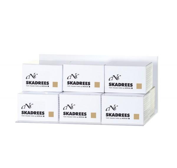 Displaybestückung SKADREES matt mousse make-up medium, 9 x 15 ml + 1 Tester + 15 Setkarten
